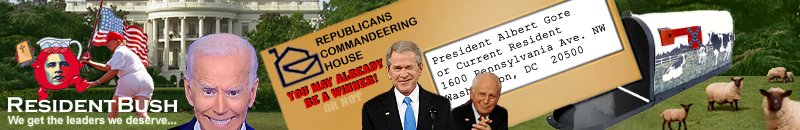 resident bush: because the sheeple never learn.